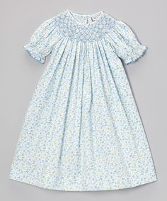 Blue Butterfly Bishop Dress- love