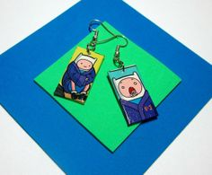 Adventure Time Earrings. Finn. Comic Capture. Finn by Nerdifacts, $12.00
