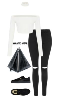 """""""Untitled #234"""" by i-nicole30 ❤ liked on Polyvore featuring Puma, Topshop and McQ by Alexander McQueen"""