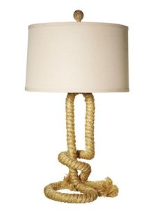 Go nautical with this rope lamp base #hgtvmagazine http://www.hgtv.com/decorating-basics/the-highlow-list-for-everyday-items/pictures/page-38.html?soc=pinterest