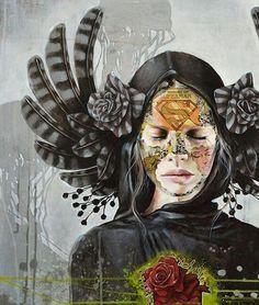 Sandra Chevrier with this amazing mural Graffiti Photography, Art Photography, Sandra Chevrier, Collages, Urbane Kunst, Art Hub, Street Art Graffiti, Urban Art, Mixed Media Art