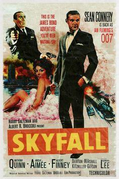Top 31 des affiches de films modernes en version vintage, le «c'était mieux avant» du cinéma James Bond Movie Posters, Old Movie Posters, Classic Movie Posters, James Bond Movies, Cinema Posters, Classic Movies, Film Posters, Vintage Posters, James Bond Skyfall