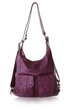New leather Epiphanie camera bag in purple