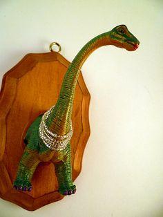 Brontosaurus Faux Taxidermy by QuirkieCraft $15