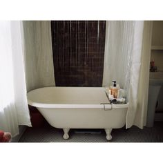Downstairs Bathroom, Clawfoot Bathtub, Interior, Neutral, Design, Clawfoot Tub Shower, Indoor, Design Interiors, Interieur