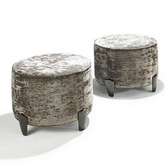 Elizabeth Garouste & Mattia Bonetti; Bronze and Mohair Stools, 1980s.  Mohair is gross but this could be beautiful with concrete