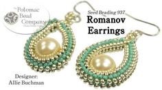 "This video tutorial from The Potomac Bead Company teaches you how to make Allie Buchman's ""Romanov Earring"" design. Find a list of supplies in the descriptio..."