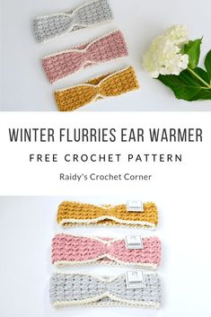 This easy to follow ear warmer pattern has a lovely modern/ boho look. Beginner friendly pattern with photo tutorial. #crochet #earwarmer #headband #freecrochetpattern