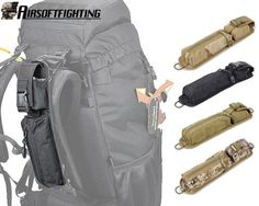 4Colors 1000D Tactical Molle Tool Bag Pouch for Shoulder Strap Backpack Black A #Notapplicable