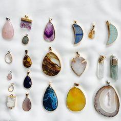 Nuevas piedras para hacer nuevos collares  Deseando que me llegue el resto