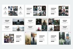 Elegant Powerpoint Template by binangkit on @creativemarket
