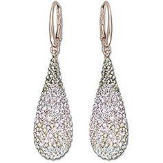 Swarovski Abstract Nude Pierced Earrings $125.00