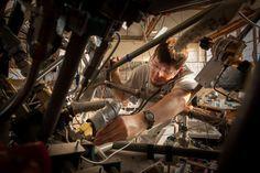 Jeremy Voigt inside the Lynx main engine