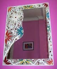 espejos en mosaico artesanal - Buscar con Google                                                                                                                                                      Más