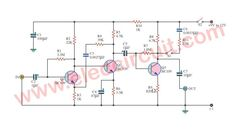 Cassette Preamplifier circuit using BC109 transistor
