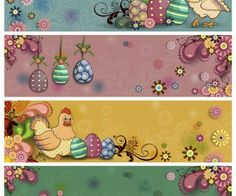 Happy Easter banner templates vector
