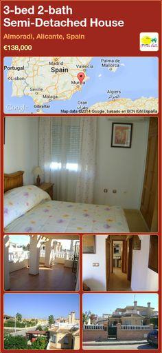 Semi-Detached House for Sale in Almoradi, Alicante, Spain Semi Detached, Detached House, Valencia, Portugal, Alicante Spain, Murcia, New Builds, Property For Sale, Villa