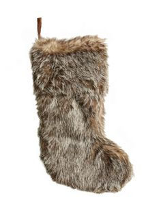 Faux Fur Stocking from Luxe Holiday Decor on Gilt