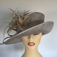 595f4654 Ladies Occasion Wedding Races Mother Bride Hat Taupe by Personal Choice  Choice Clothes, Wedding Hats