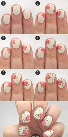 Manicure Hacks The Perfect Polka Dot And Floral Nails To Celebrate Valentines Day