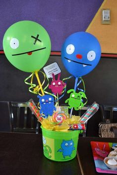 Uglydolls monsters birthday party decoration! See more party planning ideas at CatchMyParty.com!