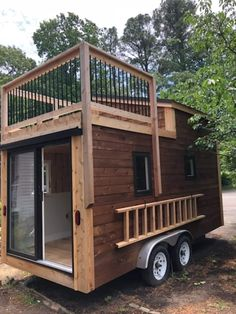 REDUCED Custom Designed and Built. Ready for Final Finishing Touches - Tiny House for Sale in Lusby, Maryland - Tiny House Listings Cheap Tiny House, Modern Tiny House, Tiny Houses For Sale, Tiny House Design, Tiny House On Wheels, Little Houses, Small Houses, Tiny House Trailer Plans, Micro House Plans