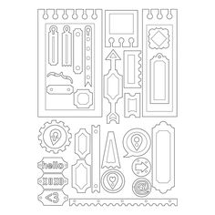 Refurbished Sizzix Thinlits Dies 20/Pkg-Notebook Base/Layering Shapes