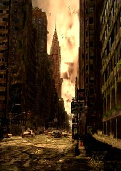 postapocalyptic city | #cyberpunk