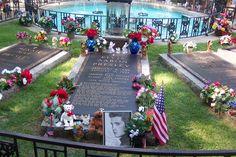 Elvis Presley's family grave site