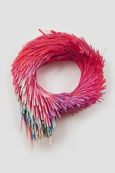 Artist: Lauren Clay Medium: sculpture out of papier-mache, wood, & wire Clay Design, Paper Design, Design Design, Design Ideas, Architecture Origami, Trippy Visuals, Collage Kunst, 3d Collage, Art Sculpture