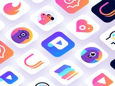 App Icons 2018 designed by Dmitri Litvinov. Connect with them on Dribbble; Pet Logo, Logo Restaurant, Monogram Logo, Creative Logo, Logo Inspiration, Launcher Icon, App Icon Design, Design Design, Graphic Design