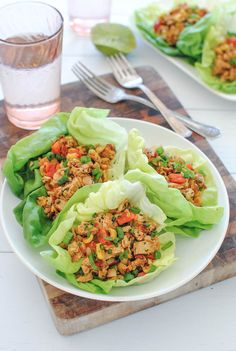 Chipotle Chicken Lettuce Wraps!