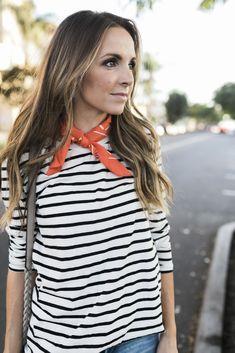 stripes and neck scarf || merricksart.com