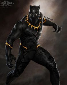 Black Panther w/Gold In The Suitb Black Panther Images, Black Panther King, Panther Pictures, Black Panther Marvel, Marvel Comic Universe, Marvel Heroes, Marvel Characters, Marvel Cinematic, Marvel Avengers