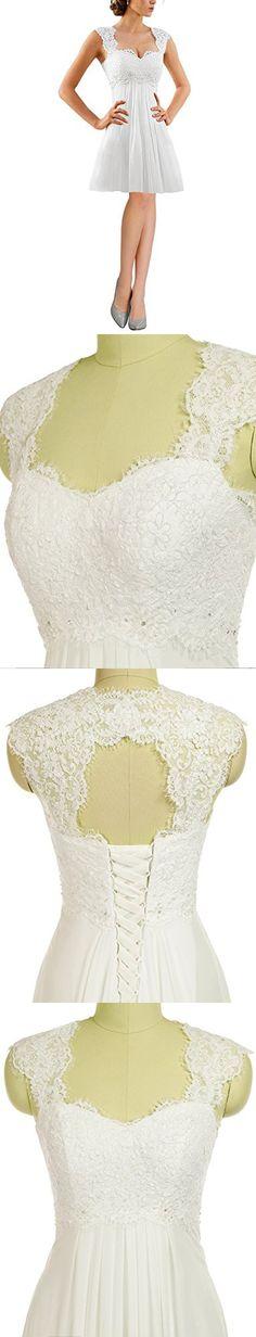 Erosebridal Chiffon Long Evening Party Gowns for Women Beach Wedding Dress Gowns Size 24w White