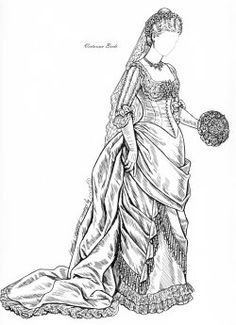 victorian coloring  pages of women's dress | ... Special, Bridesmaids Dresses, Millennium Bride, Real Princess Brides