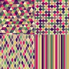 seamless multicolored geometric pattern  Stock Vector - 22386701