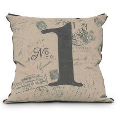 Canvas throw pillow.