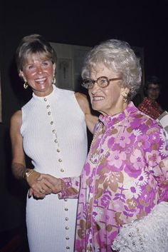 Doris Day with her mother