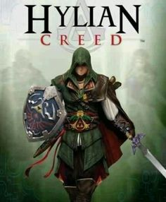 Crossover - Legend of Zelda & Assassins Creed - Hylian Creed, a story of a man who fought for the freedom of an empire from the tyrannical clutches of a dark lord. The Legend Of Zelda, Assassins Creed, Video Game Memes, Video Game Art, Video Games, Gi Joe, Link Lobo, Geeks, Videogames