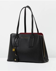 The Editor Shoulder Bag Laptop Pouch, Iconic Australia, Off Black, Shades Of Black, Cow Leather, Sale Items, Women's Accessories, Marc Jacobs, Shoulder Bag