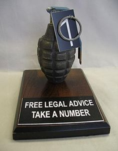 Lawyer/Attorney Gift--Grenade - Free Legal Advice
