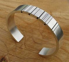 Mens Silver Personalised Barcode Bracelet