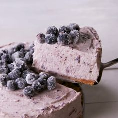 Lemon blueberry mousse cake