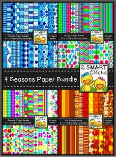 BUNDLE AND SAVE 25%!!! Now you can beautify your products all year long with our 4 Seasons Background Paper Bundle! This set includes a whopping 96 digital papers (24 for each glorious season)!Our 4 Seasons Bundle contains the following:Background Paper  Fall BundleBackground Paper  Winter BundleBackground Paper  Spring BundleBackground Paper  Summer BundleAnything in this set can be used for personal or commercial purposes.