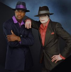 Michael Jackson and Chris Tucker on the set of You Rock My World