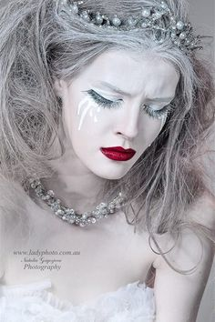 """""""White Queen"""" HMUA & Style: AngieY Photographer: Ladyphoto"""