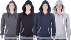 Men's Pullover Hoody - Charcoal - M - Fashion