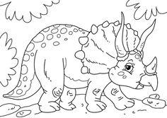 imagen para imprimir de dinosaurio triceratops    #dinosaurio #colorear #imprimir