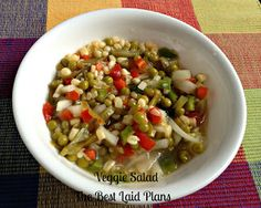 The Best Laid Plans: Veggie Salad & A Lot Of A Month Of Thankfulness